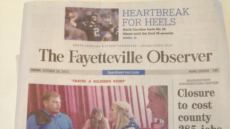 Travis Inspires Fayetteville – Fort Bragg!