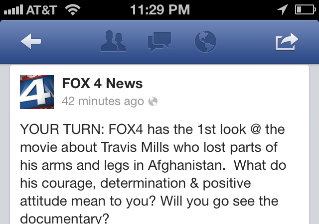 Dallas Fox 4 Feature of Travis: A Soldier's Story by Richard Ray
