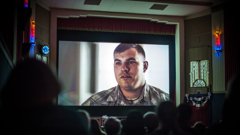 Vassar Supports Travis: A Soldier's Story with Applause and Standing Ovations!