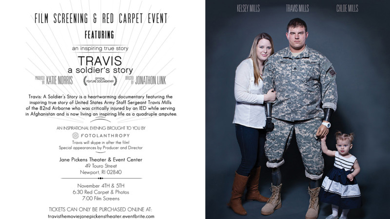 Travis: A Soldier's Story Red Carpet Screening Nov 4 & 5 In Newport, Rhode Island