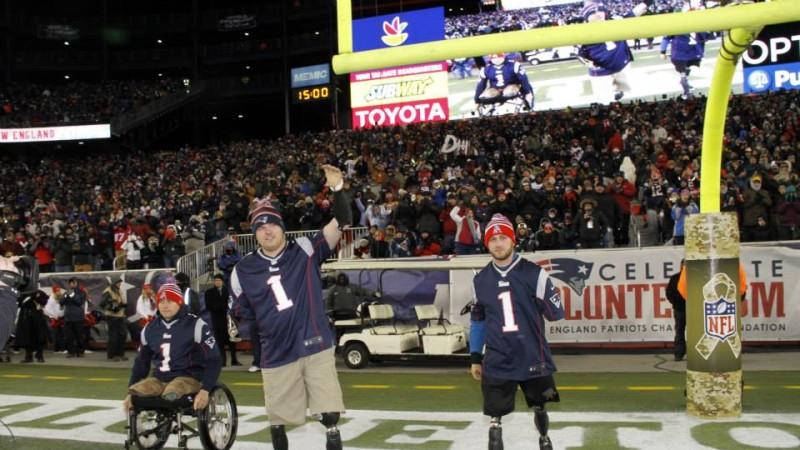 Tribute To Travis Mills at Patriots vs. Broncos Game!