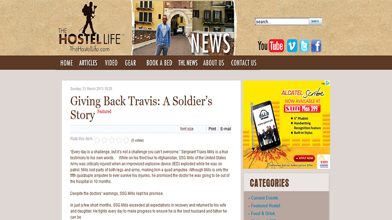 Giving Back Travis: A Soldier's Story