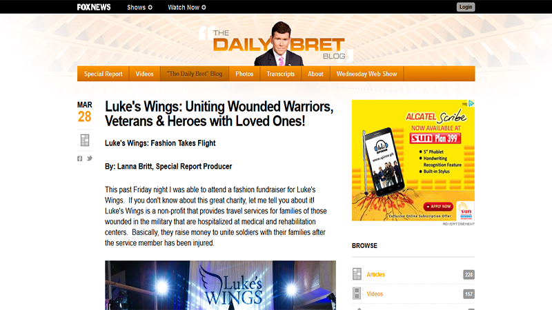 Luke's Wings: Uniting Wounded Warriors, Veterans & Heroes with Loved Ones!