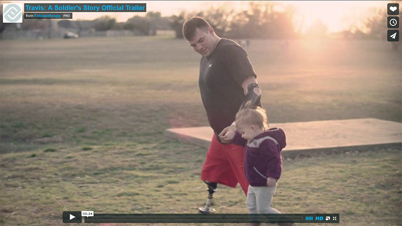 Travis A Soldiers Story Trailer shared on Faith It