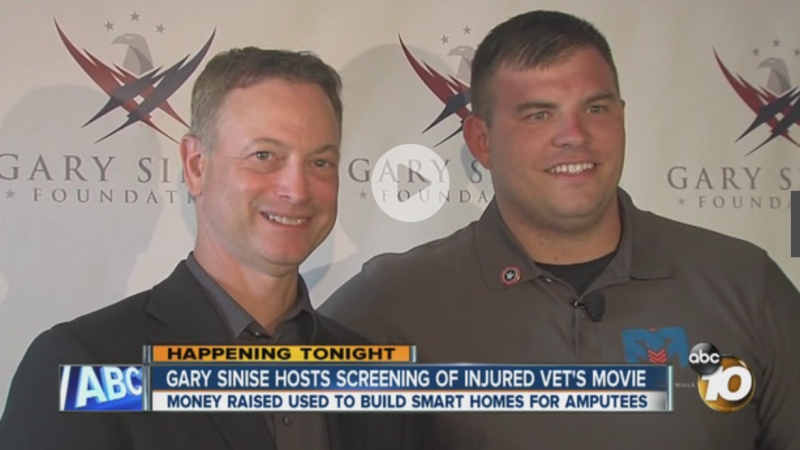 Actor Gary Sinise in Coronado for special screening of documentary about injured veteran's recovery