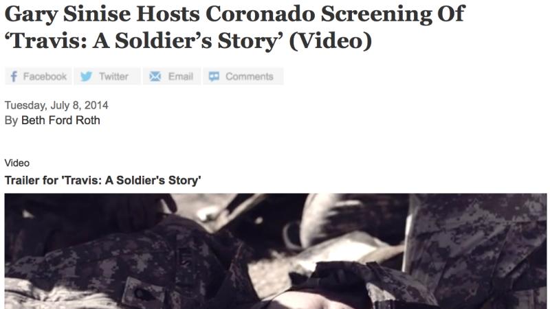 Gary Sinise Hosts Coronado Screening Of 'Travis: A Soldier's Story'
