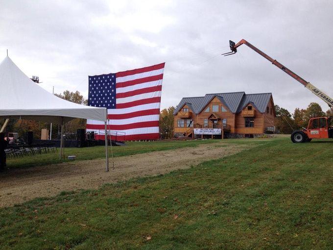 Mills House Maine 6 House Flag