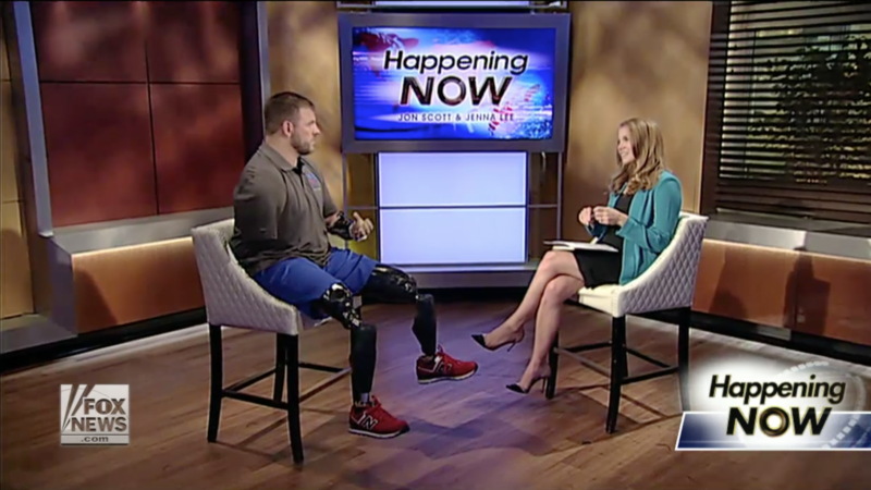 Wounded Warrior Sharing His Inspiring Story with the World